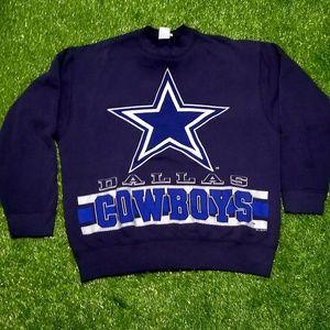 Vintage Dallas Cowboys Large Print Sweatshirt